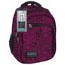 Kép 1/5 - BackUp iskolatáska, hátizsák - 3 rekeszes - Fekete-rózsaszín (PLB1D20)