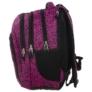 Kép 2/5 - BackUp iskolatáska, hátizsák - 3 rekeszes - Fekete-rózsaszín (PLB1D20)