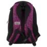 Kép 3/5 - BackUp iskolatáska, hátizsák - 3 rekeszes - Fekete-rózsaszín (PLB1D20)