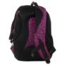 Kép 4/5 - BackUp iskolatáska, hátizsák - 3 rekeszes - Fekete-rózsaszín (PLB1D20)