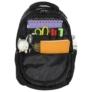 Kép 5/5 - BackUp iskolatáska, hátizsák - 3 rekeszes - Fekete-rózsaszín (PLB1D20)