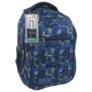 Kép 1/5 - BackUp iskolatáska, hátizsák - 3 rekeszes - Kék-zöld (PLB1D30)