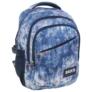 Kép 1/5 - BackUp iskolatáska, hátizsák - 3 rekeszes - Kék-lila virágok (PLB1G44)