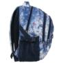 Kép 3/5 - BackUp iskolatáska, hátizsák - 3 rekeszes - Kék-lila virágok (PLB1G44)