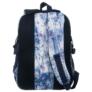 Kép 5/5 - BackUp iskolatáska, hátizsák - 3 rekeszes - Kék-lila virágok (PLB1G44)