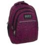 Kép 1/6 - BackUp iskolatáska, hátizsák - 3 rekeszes - Fekete-rózsaszín (PLB1H20)