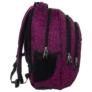 Kép 3/6 - BackUp iskolatáska, hátizsák - 3 rekeszes - Fekete-rózsaszín (PLB1H20)