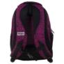 Kép 4/6 - BackUp iskolatáska, hátizsák - 3 rekeszes - Fekete-rózsaszín (PLB1H20)