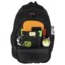 Kép 6/6 - BackUp iskolatáska, hátizsák - 3 rekeszes - Fekete-rózsaszín (PLB1H20)