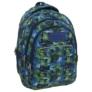 Kép 1/6 - BackUp iskolatáska, hátizsák - 3 rekeszes - Kék-zöld (PLB1H30)