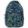Kép 2/6 - BackUp iskolatáska, hátizsák - 3 rekeszes - Kék-zöld (PLB1H30)