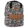 Kép 1/4 - BackUp iskolatáska, hátizsák - 1 rekeszes - Lila virágok (PLB2CA24)