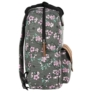 Kép 3/4 - BackUp iskolatáska, hátizsák - 1 rekeszes - Lila virágok (PLB2CA24)