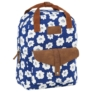 Kép 1/4 - BackUp iskolatáska, hátizsák - 1 rekeszes - Fehér virágok (PLB2CA27)
