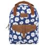 Kép 2/4 - BackUp iskolatáska, hátizsák - 1 rekeszes - Fehér virágok (PLB2CA27)