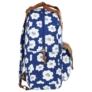Kép 3/4 - BackUp iskolatáska, hátizsák - 1 rekeszes - Fehér virágok (PLB2CA27)