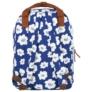 Kép 4/4 - BackUp iskolatáska, hátizsák - 1 rekeszes - Fehér virágok (PLB2CA27)
