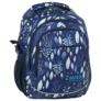 Kép 1/5 - BackUp iskolatáska, hátizsák - 3 rekeszes - Kék levelek (PLB2G61)