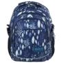 Kép 2/5 - BackUp iskolatáska, hátizsák - 3 rekeszes - Kék levelek (PLB2G61)