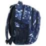 Kép 3/5 - BackUp iskolatáska, hátizsák - 3 rekeszes - Kék levelek (PLB2G61)