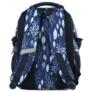 Kép 4/5 - BackUp iskolatáska, hátizsák - 3 rekeszes - Kék levelek (PLB2G61)