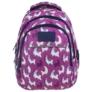 Kép 2/8 - BackUp iskolatáska, hátizsák - 3 rekeszes - Lámák (PLB2H03)