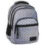 Kép 1/8 - BackUp iskolatáska, hátizsák - 4 rekeszes - Lemez minta (PLB2M42)