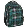Kép 1/5 - Unique Collection iskolatáska, hátizsák - Zöld kockás (PLM17D26)