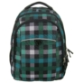 Kép 2/5 - Unique Collection iskolatáska, hátizsák - Zöld kockás (PLM17D26)