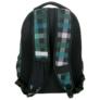 Kép 5/5 - Unique Collection iskolatáska, hátizsák - Zöld kockás (PLM17D26)