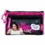 Kép 2/2 - Violetta 3 részes pénztárca, neszesszer - Love Music (SZTKVI18)