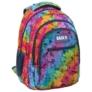 Kép 1/6 - BackUp iskolatáska, hátizsák - 3 rekeszes - Szivárvány szirmok