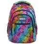 Kép 2/6 - BackUp iskolatáska, hátizsák - 3 rekeszes - Szivárvány szirmok