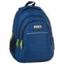 Kép 1/8 - BackUp iskolatáska, hátizsák - 3 rekeszes - Kék hullámok