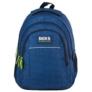 Kép 2/8 - BackUp iskolatáska, hátizsák - 3 rekeszes - Kék hullámok