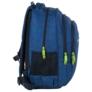 Kép 3/8 - BackUp iskolatáska, hátizsák - 3 rekeszes - Kék hullámok