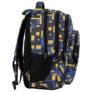 Kép 3/5 - BackUp iskolatáska, hátizsák - 4 rekeszes - Blocks