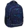 Kép 1/7 - BackUp iskolatáska, hátizsák - 4 rekeszes - Kék leopárdok