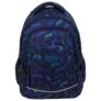 Kép 2/7 - BackUp iskolatáska, hátizsák - 4 rekeszes - Kék leopárdok