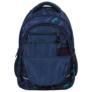 Kép 6/7 - BackUp iskolatáska, hátizsák - 4 rekeszes - Kék leopárdok