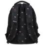 Kép 4/6 - BackUp Minnie Mouse iskolatáska, hátizsák - 3 rekeszes - Black