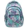 Kép 2/7 - BackUp virágos iskolatáska, hátizsák - 3 rekeszes - Nyár