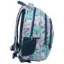 Kép 3/7 - BackUp virágos iskolatáska, hátizsák - 3 rekeszes - Nyár