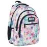 Kép 1/6 - BackUp virágos iskolatáska, hátizsák mellpánttal - 3 rekeszes - Tavasz