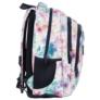 Kép 3/6 - BackUp virágos iskolatáska, hátizsák mellpánttal - 3 rekeszes - Tavasz