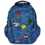 Kép 4/9 - St.Right - Jeans and Badges hátizsák, iskolatáska - 4 rekeszes (618727)
