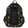 Kép 2/9 - Emoji hátizsák, iskolatáska - 4 rekeszes