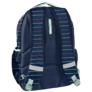 Kép 2/3 - Színes csíkos mintás hátizsák, iskolatáska - 3 rekeszes - Kék (PPMY19-2706)