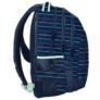 Kép 3/3 - Színes csíkos mintás hátizsák, iskolatáska - 3 rekeszes - Kék (PPMY19-2706)