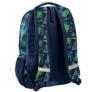 Kép 2/3 - Színes háromszög mintás hátizsák, iskolatáska - 3 rekeszes - Zöld-kék (18-2808RG/16)
